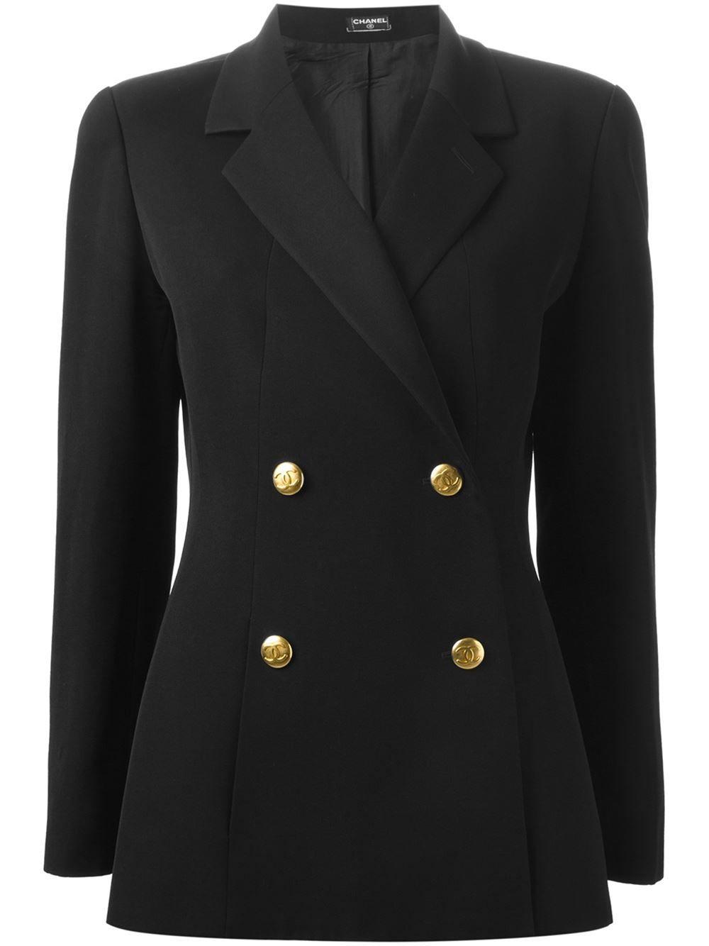 4bd742259d0 Chanel Vintage Double Breasted Blazer - Katheleys Vintage - Farfetch ...