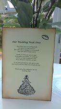 Wedding Wish Tree Poem - Vintage style - Beautiful - Handmade