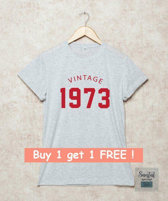 45th Birthday Shirt Vintage 1973 Shirts Tshirts 70s T 45 Gi