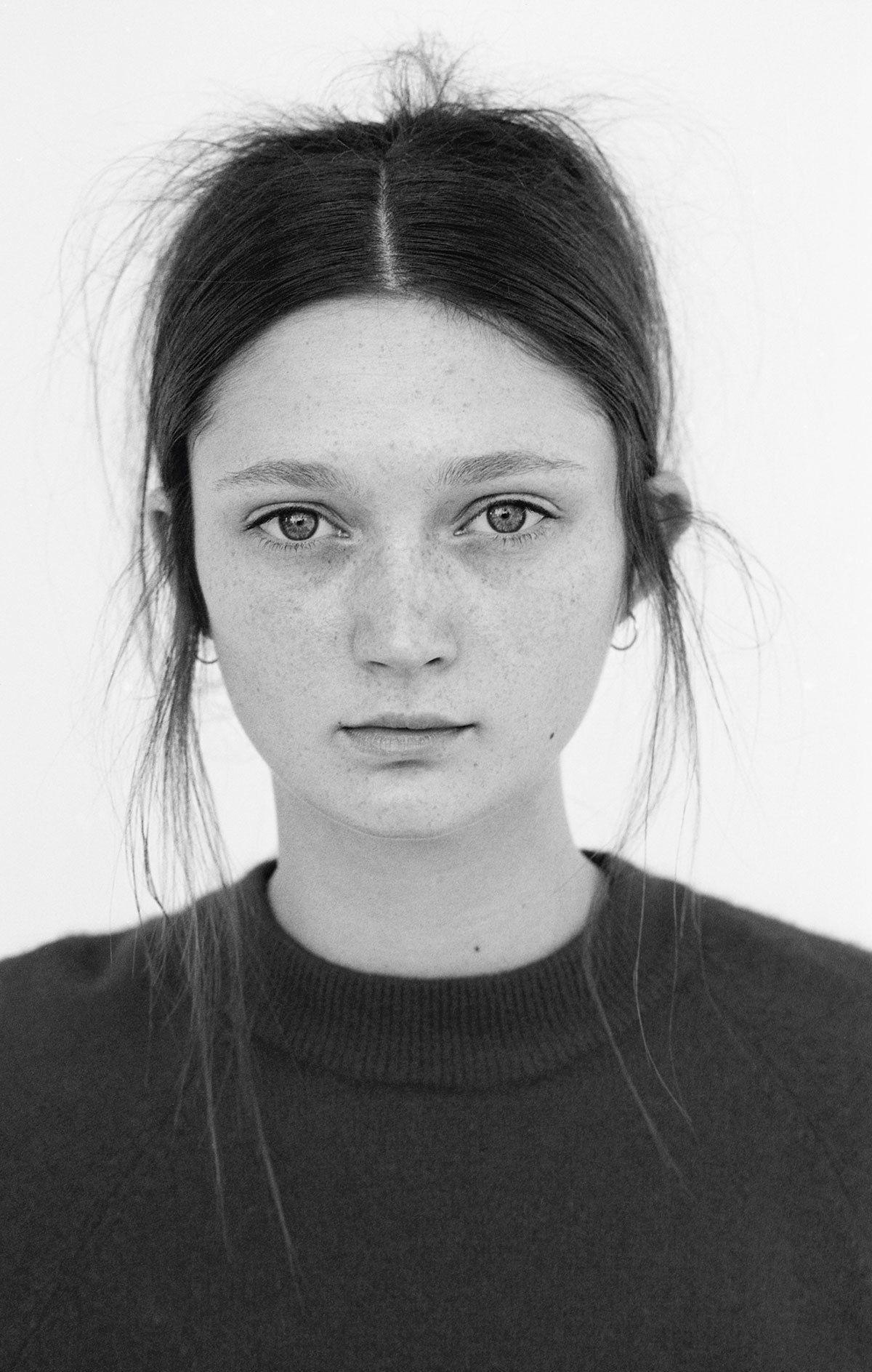 Sophie Touchet wears jumper Levi's. Earrings Maria Tash.  Photography Matt Jones i-D