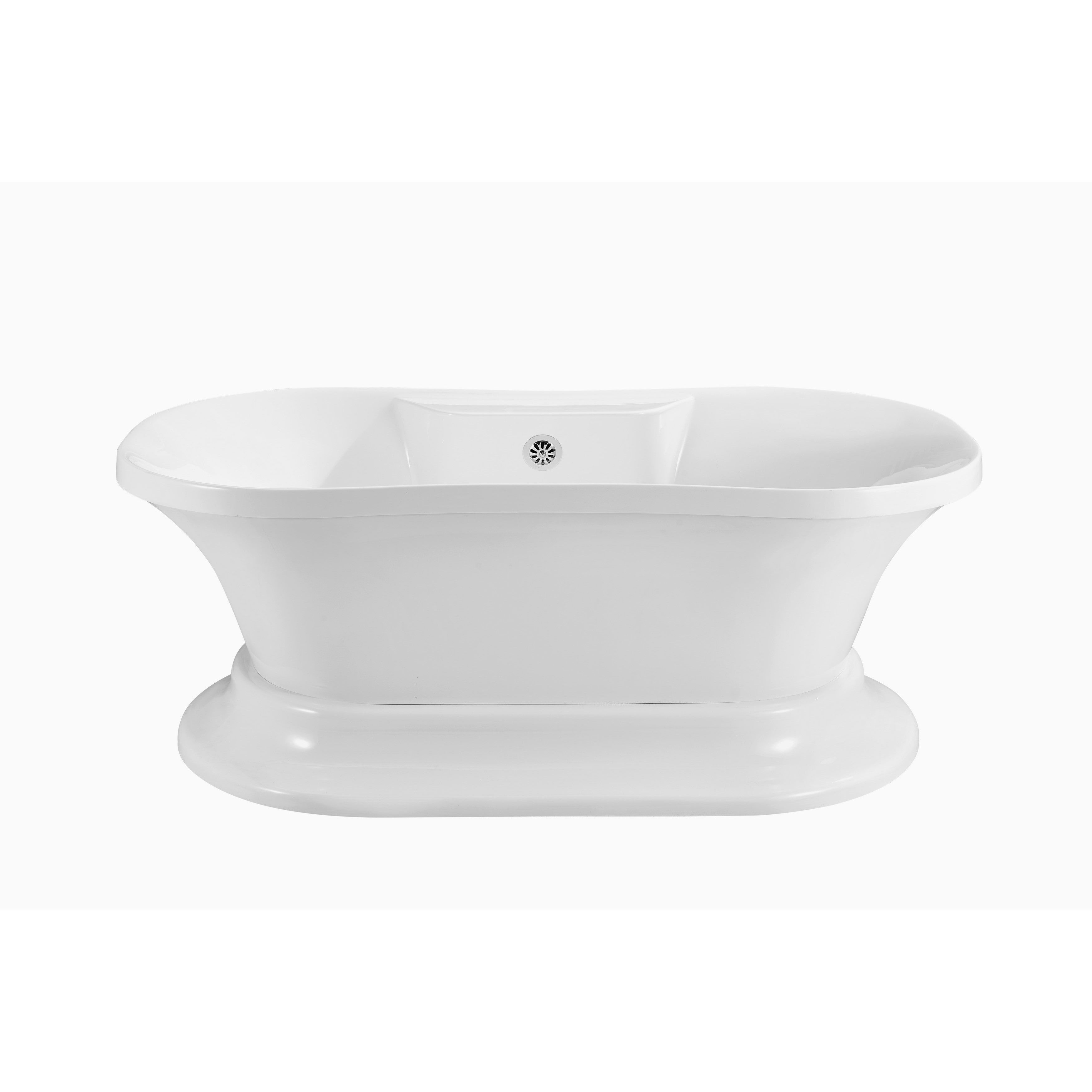 60 Streamline N180ch Soaking Freestanding Tub And Tray With