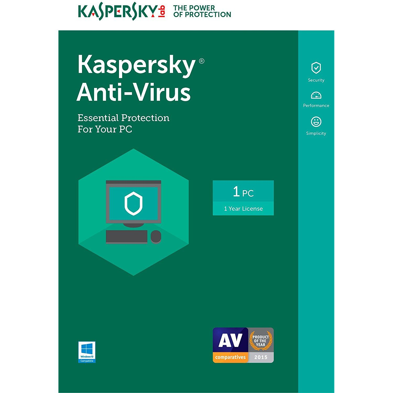 Kaspersky Anti-Virus 2017   1 Device   1 Year   Download [Online