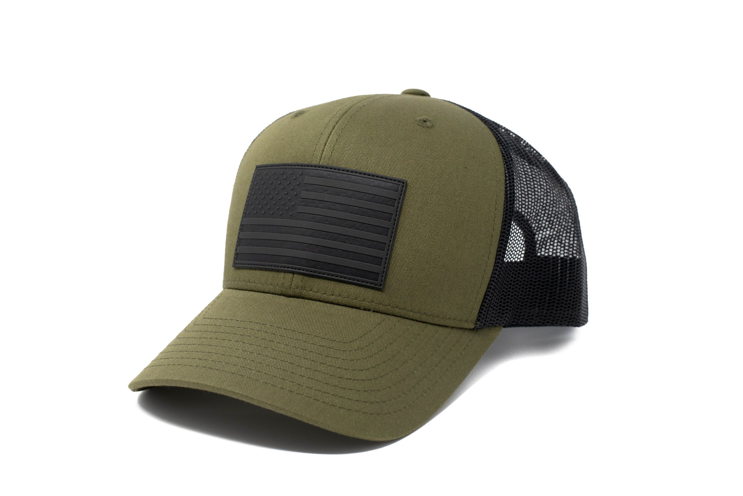American Flag Hat Moss Green And Black American Flag Hat Flag Hat Black American Flag Hat
