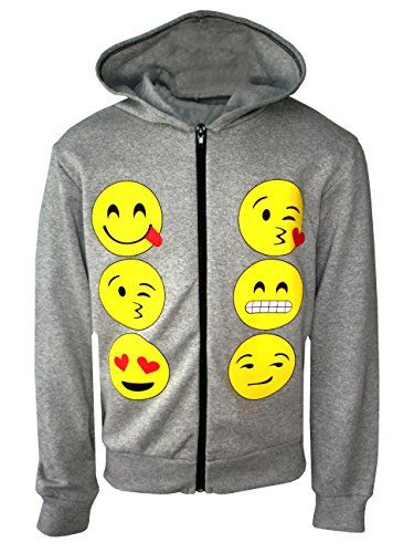 Generic Kids Emoji Emoticons Smiley Faces Long Sleeve Hoodies Tops Girls Age New 5 13 Y Hoodies Hoodie Girl Long Sleeve Hoodie