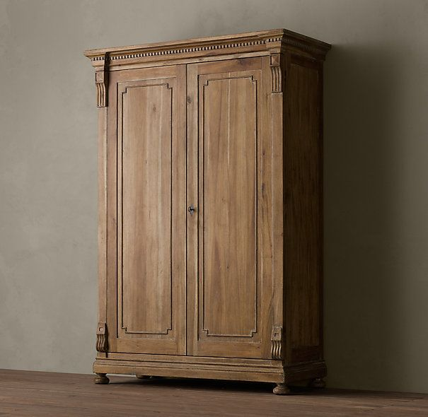 St James Armoire Antiqued Natural