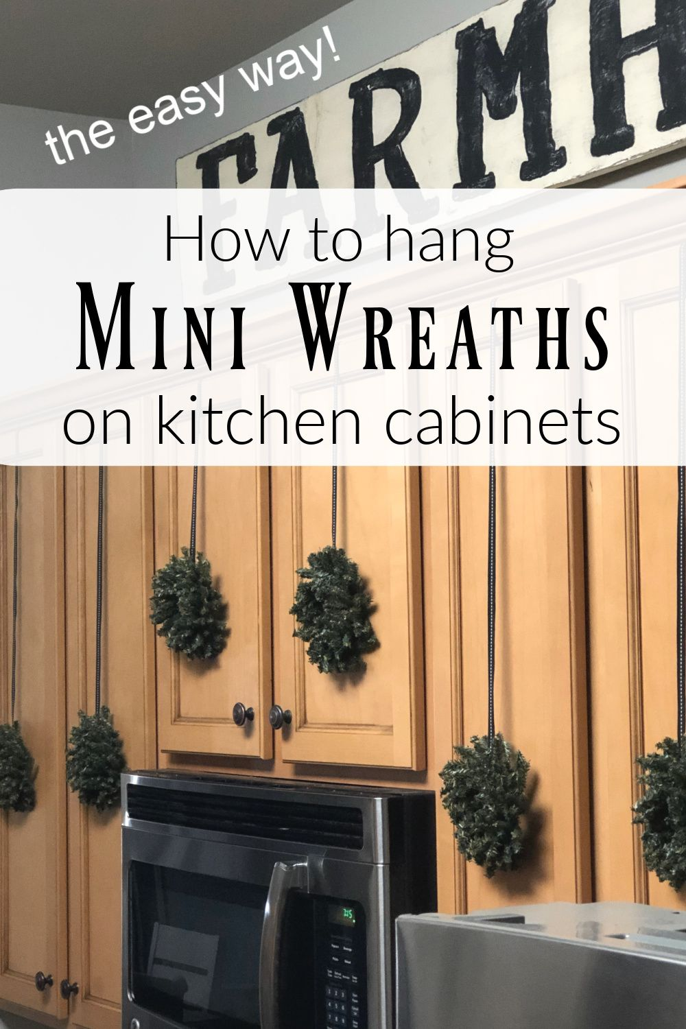 Eye Catching Mini Wreaths That Will Transform Your Holiday Kitchen Cabinets Mini Wreaths Holiday Kitchen Diy Christmas Decorations Easy