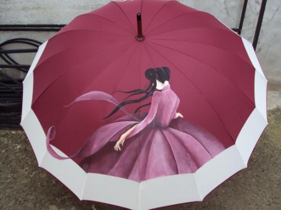 Paraguas paraguas pintura para tela pintado a mano - Tela de paraguas ...