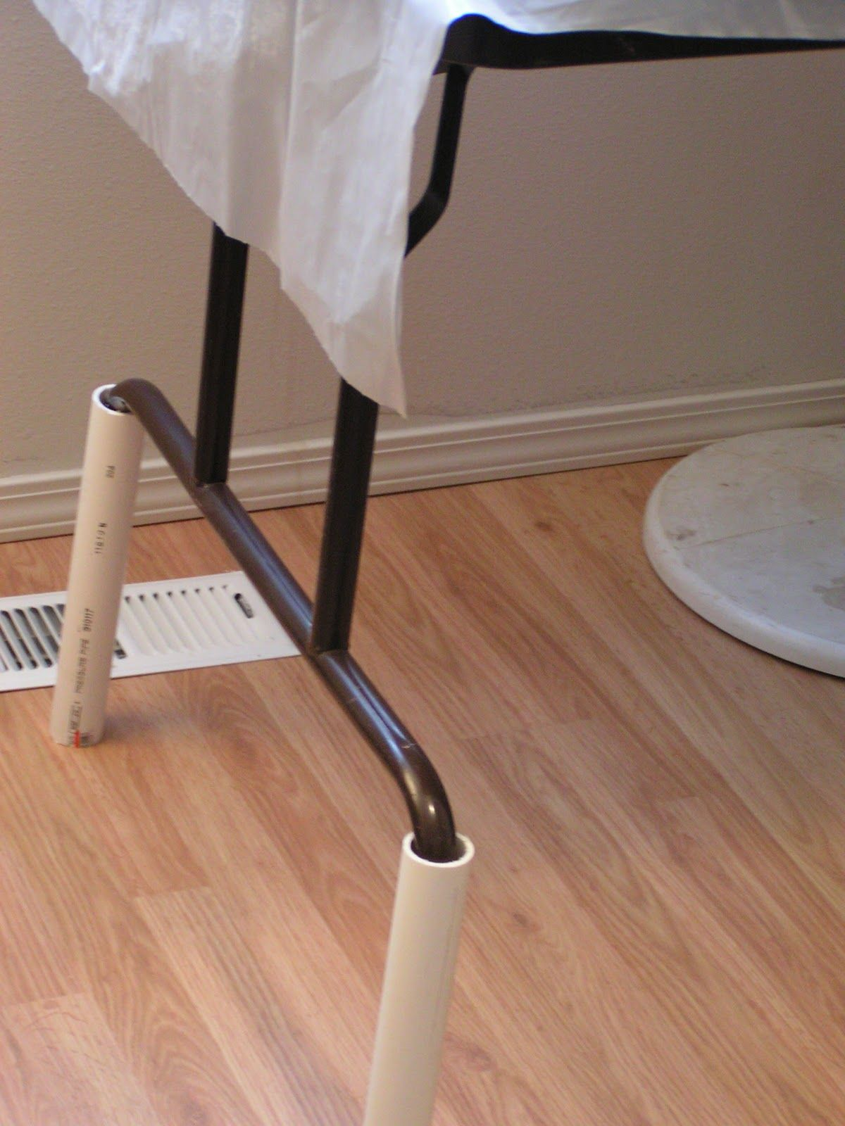 Use Lengths Of Pvc Pipe To Raise The Height Of A Folding