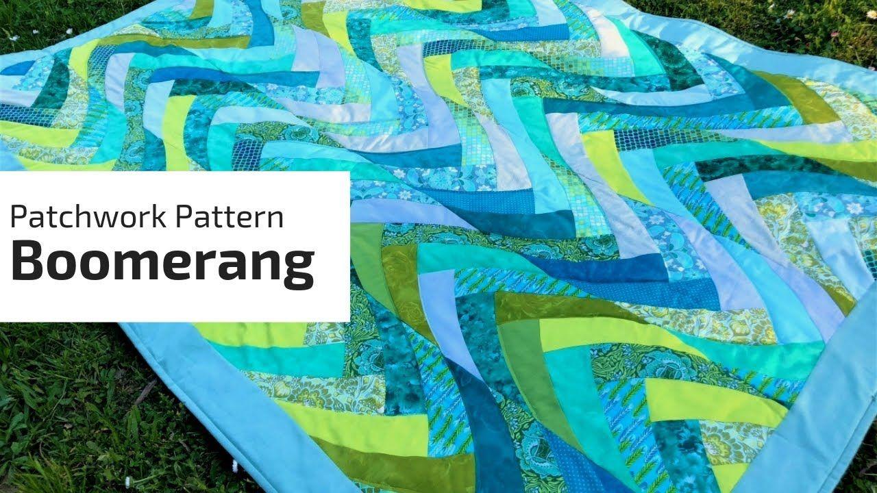 Quick patchwork tutorial Boomerang Minták