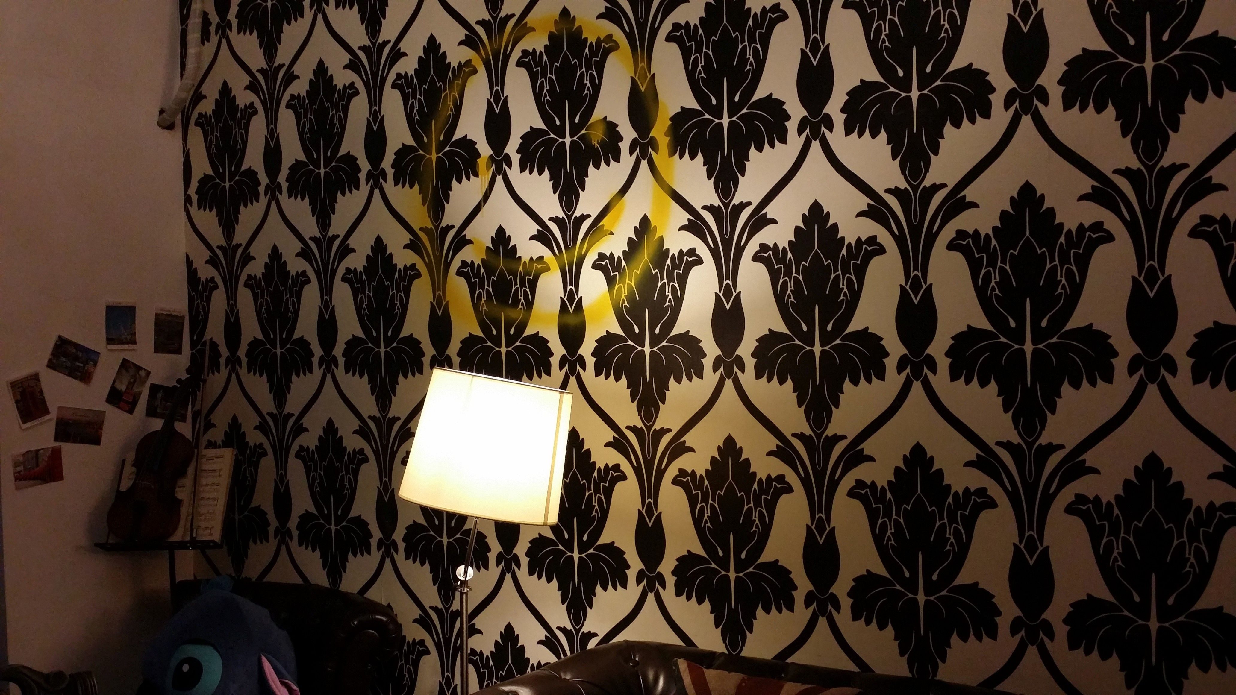 I may want to decorate my room in honor of Sherlock, like this
