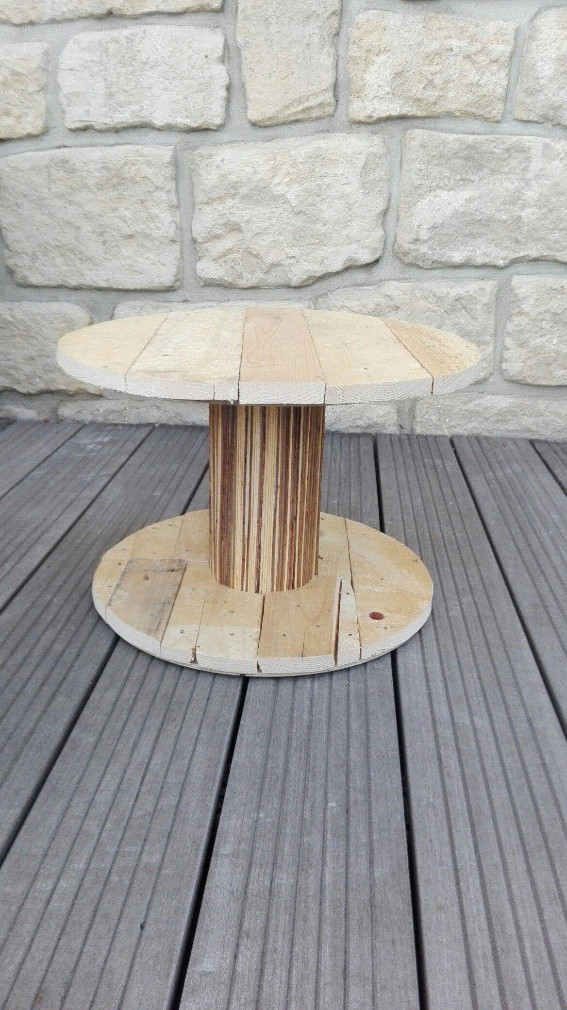Table basse de jardin Récupération d une bobine d une palette et