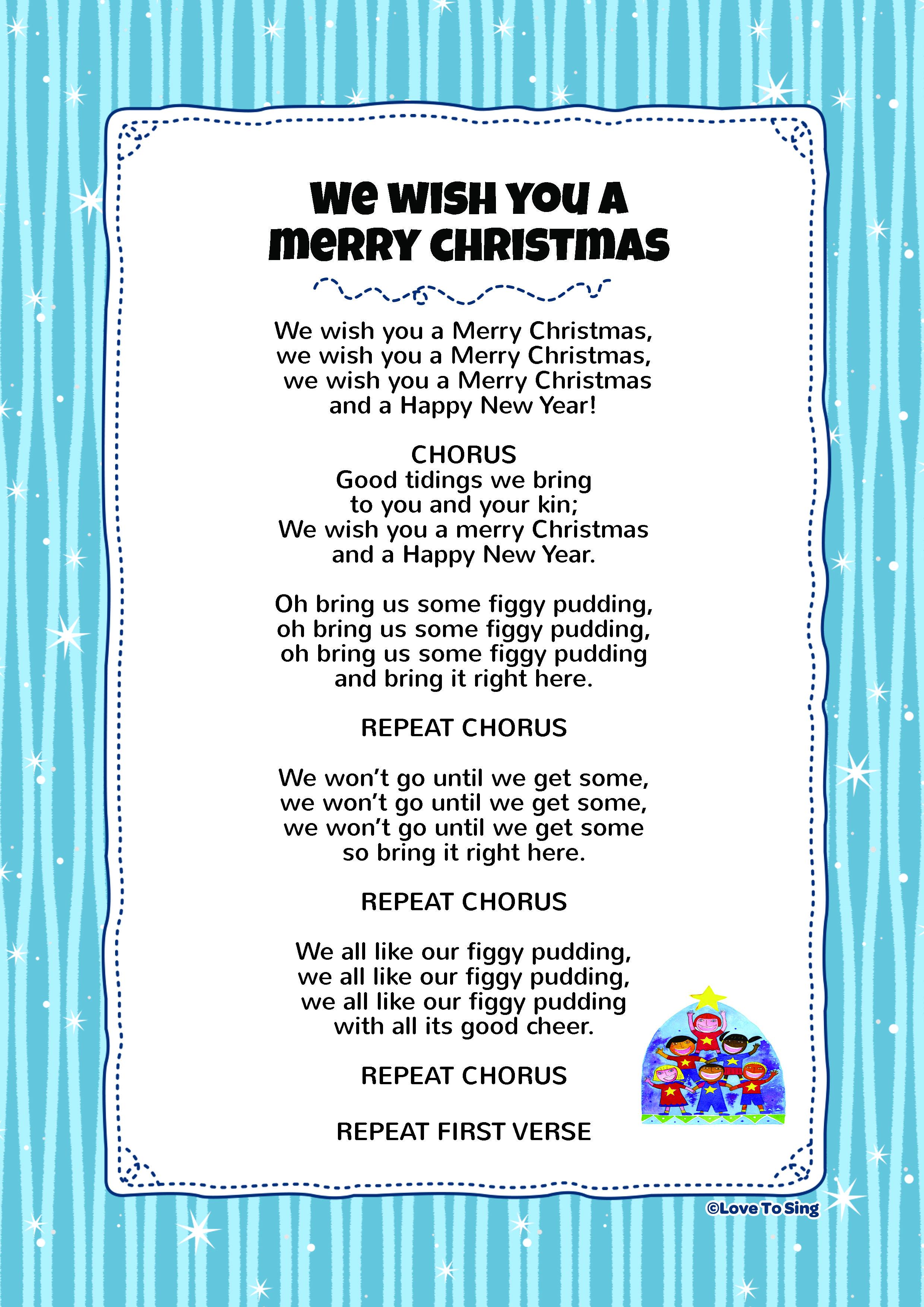 We Wish You A Merry Christmas Christmas songs lyrics