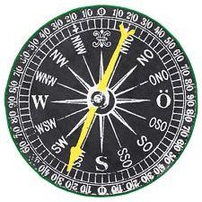 Ikea Compass Black White Round Throw Area Rug Mat Low Pile Nautical