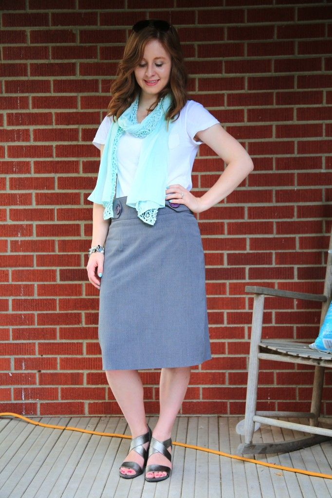 Outfit of the Day: Mint Green and Grey