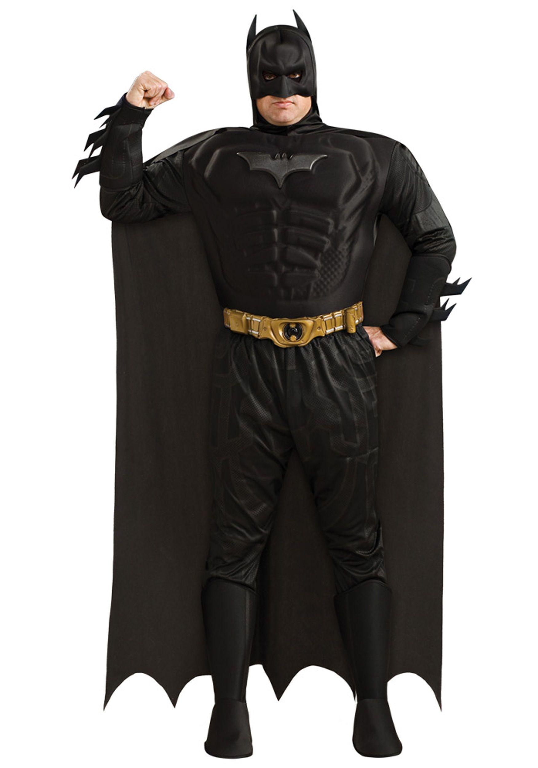 a405d284ef8c6 Mens Plus Size Batman Costume