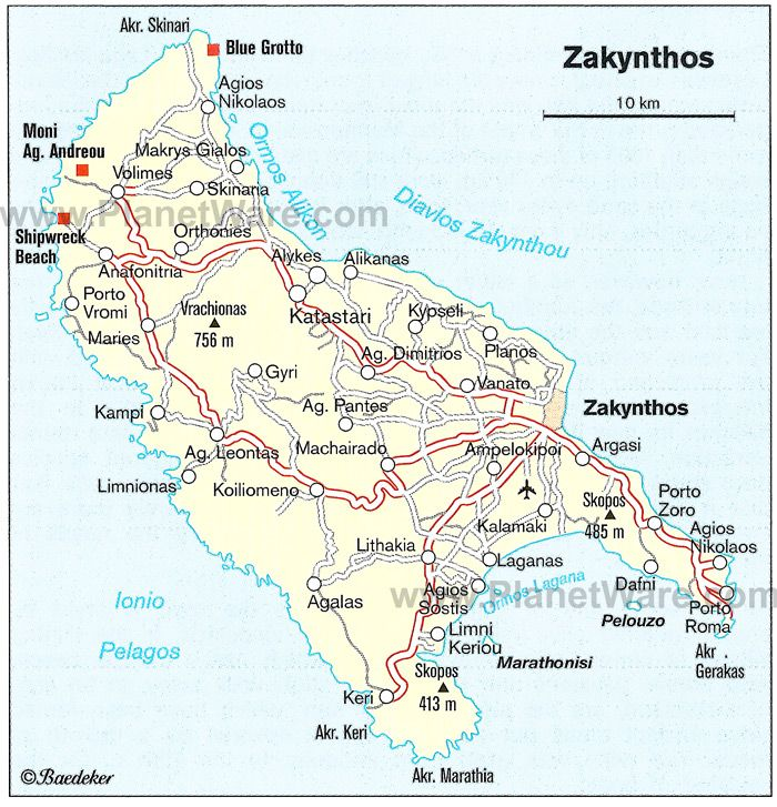 Zakynthos Map Tourist Attractions Zakynthos Pinterest