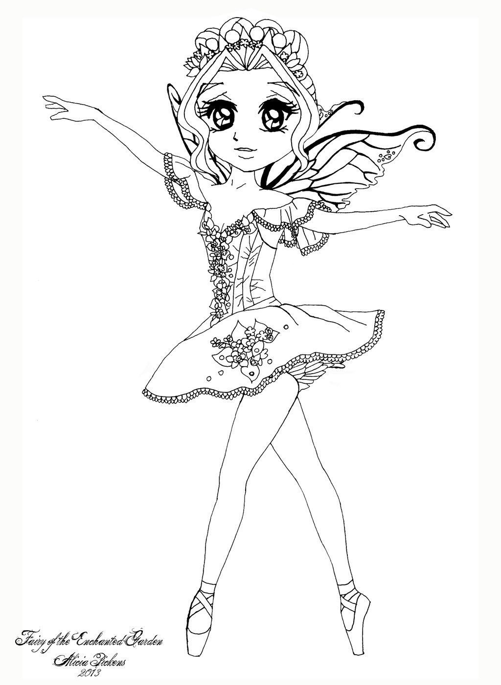 enchanted fairies coloring pages | Fairy of the Enchanted Garden by LicieOIC.deviantart.com ...