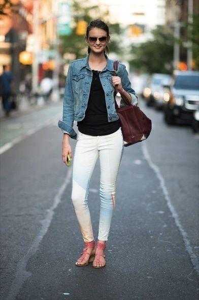 White Pants Moda Trabajo Moda Ropa