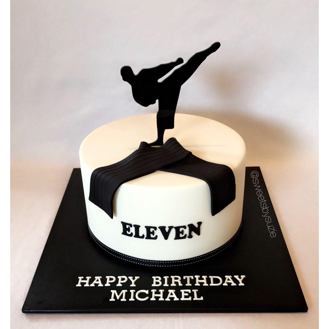 Karate Black Belt Birthday Cake Made By Sweetsbysuzie In Melbourne