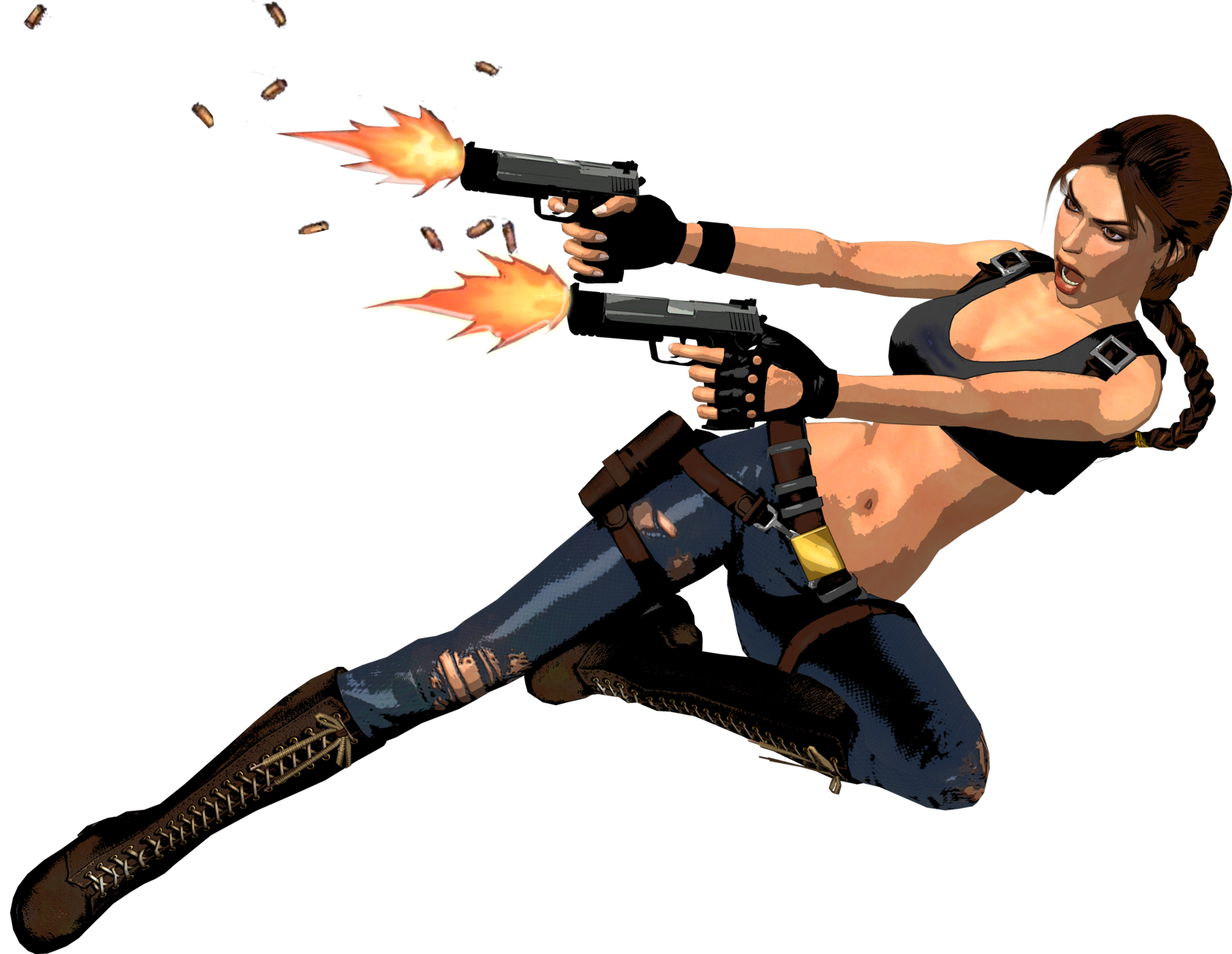 Lara Croft Tomb Raider With Guns Png Image Lara Croft Tomb Tomb Raider Tomb