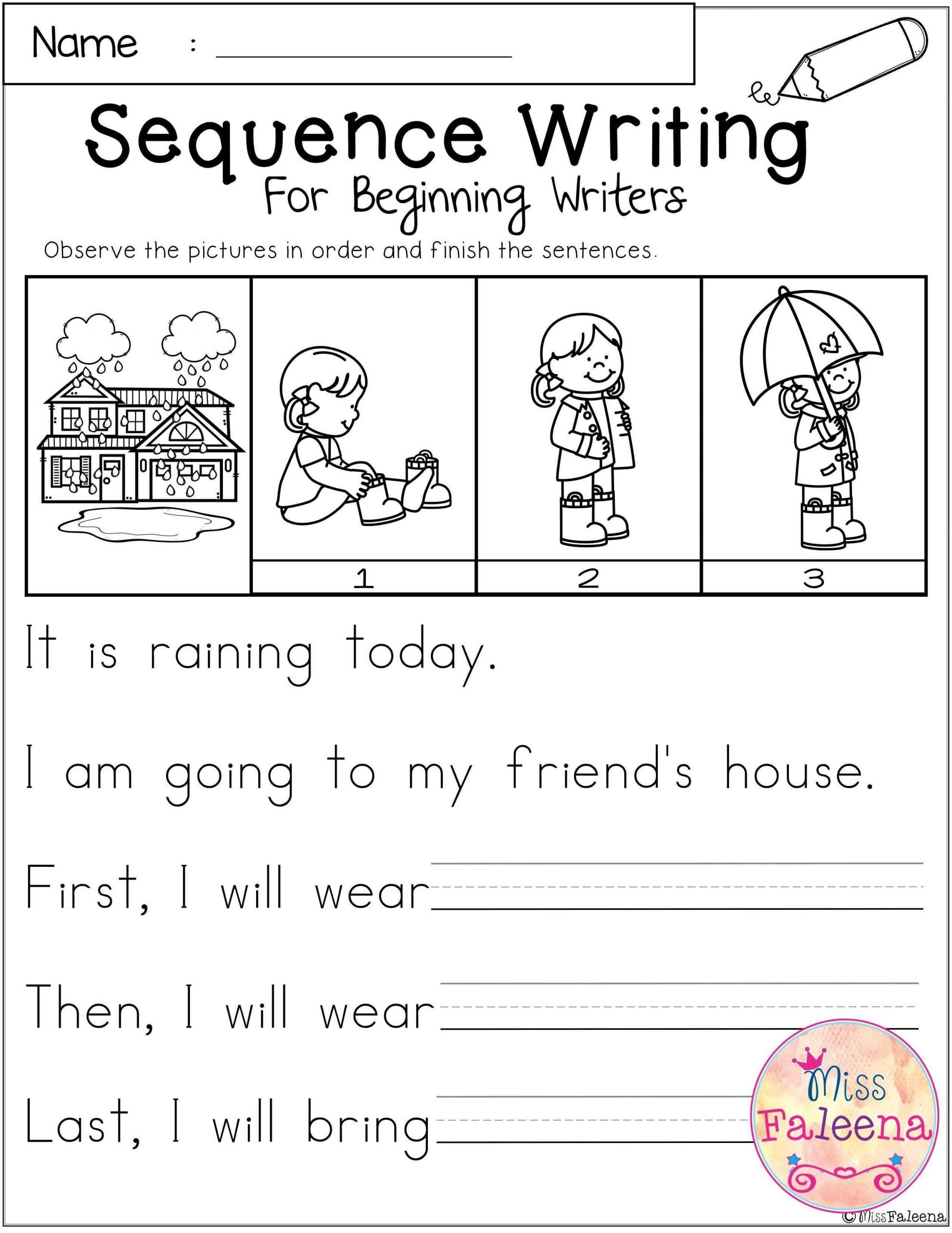 Sequencing Worksheet First Grade March Sequence Writing For Beginning Writers In 2020 Sequence Writing Kindergarten Sequencing Worksheets Sequencing Worksheets