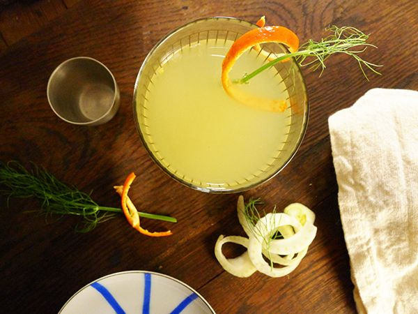 Signature Cocktail: Fennel Orange Sparkler  for Limn and Lovely