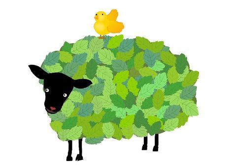 Sheep年賀状 羊のイラスト 森ひつじ 冬のイラスト素材 無料