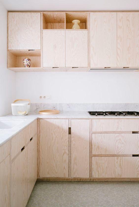 Kitchen Plywood Cuisine Contreplaqué Bois Modern Cuisine Simple