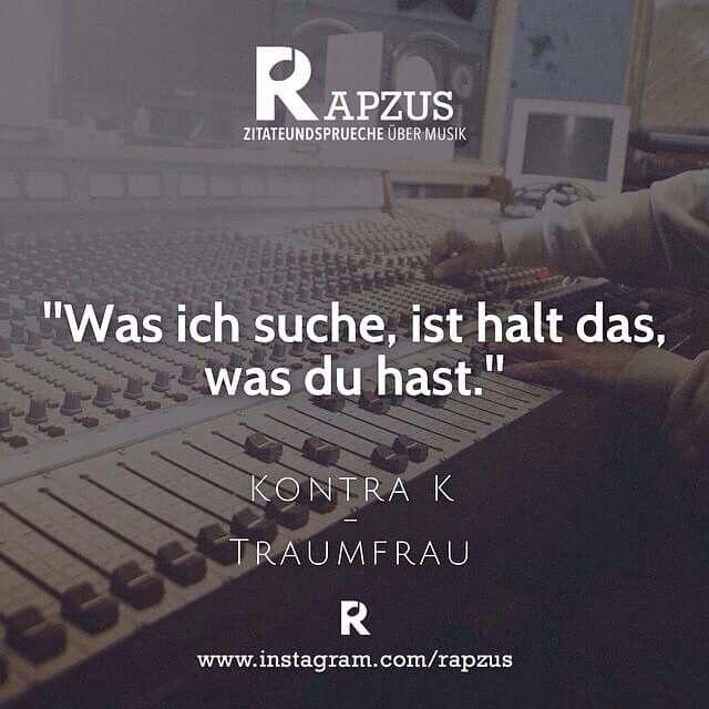 Deutsches Rap Zitat von Kontra K | Rap Love | Pinterest ...