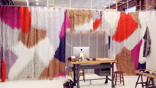 Confetti System workroom - a curtain to die for