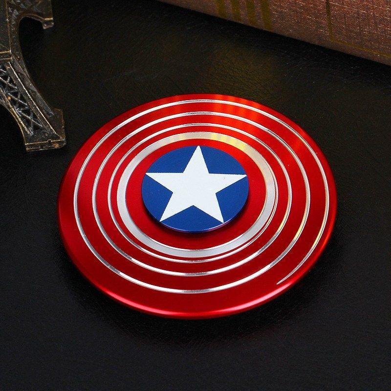 Pozostałe Captain America Fidget Hand Spinner Shield Toy EDC Focus ADHD Autism Kids Adult Gry i konsole