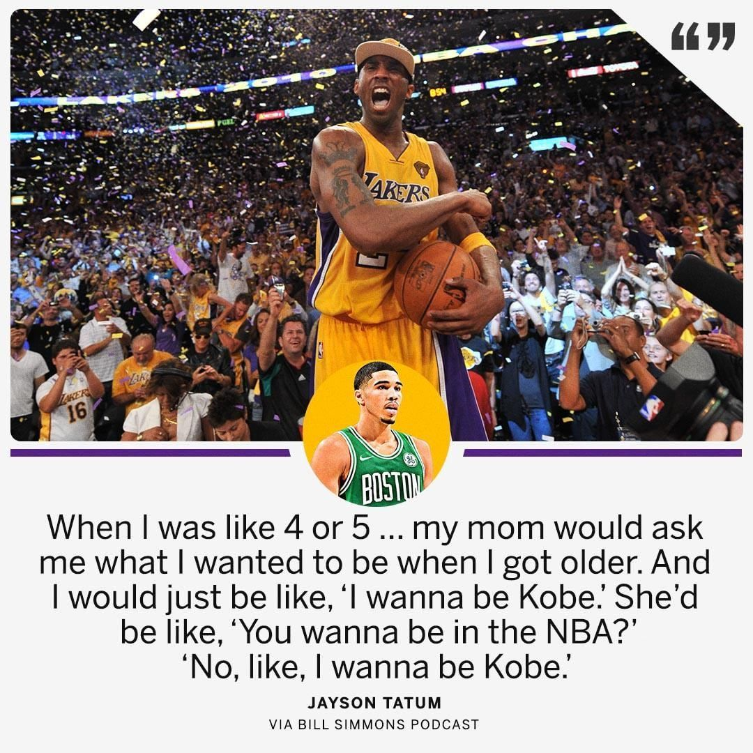 170a21d6 Jayson Tatum just wanted to be like Mamba. Find this Pin and more on Kobe  Bryant - The Black ...