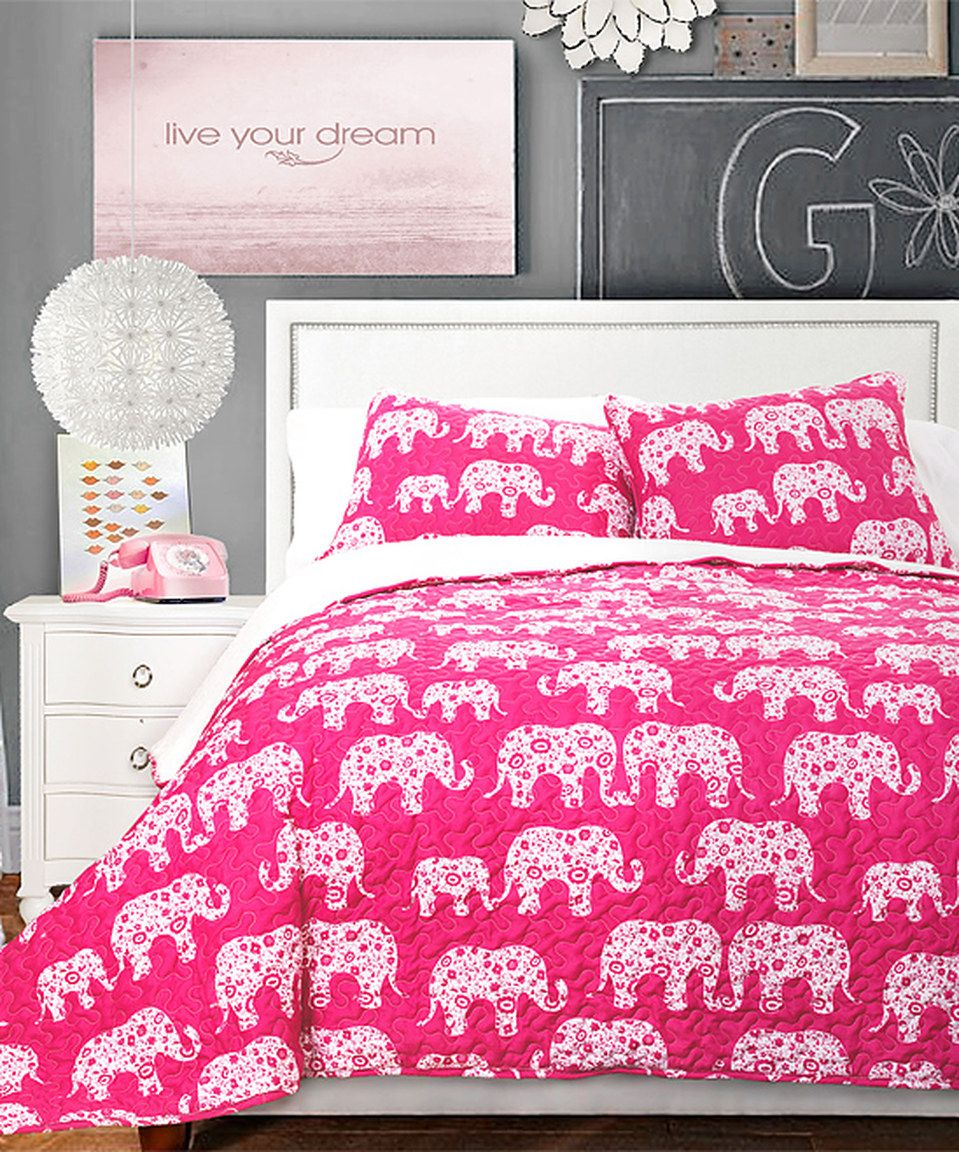 Another Great Find On Zulily Pink Elephant Parade Quilt