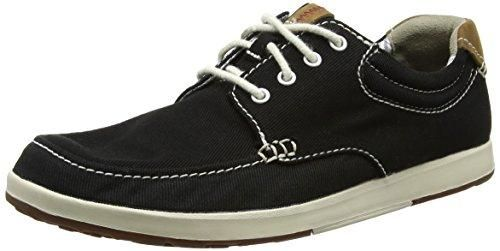 Clarks Norwin Vibe, Zapatillas para Hombre, Negro (Black Textile), 45 EU