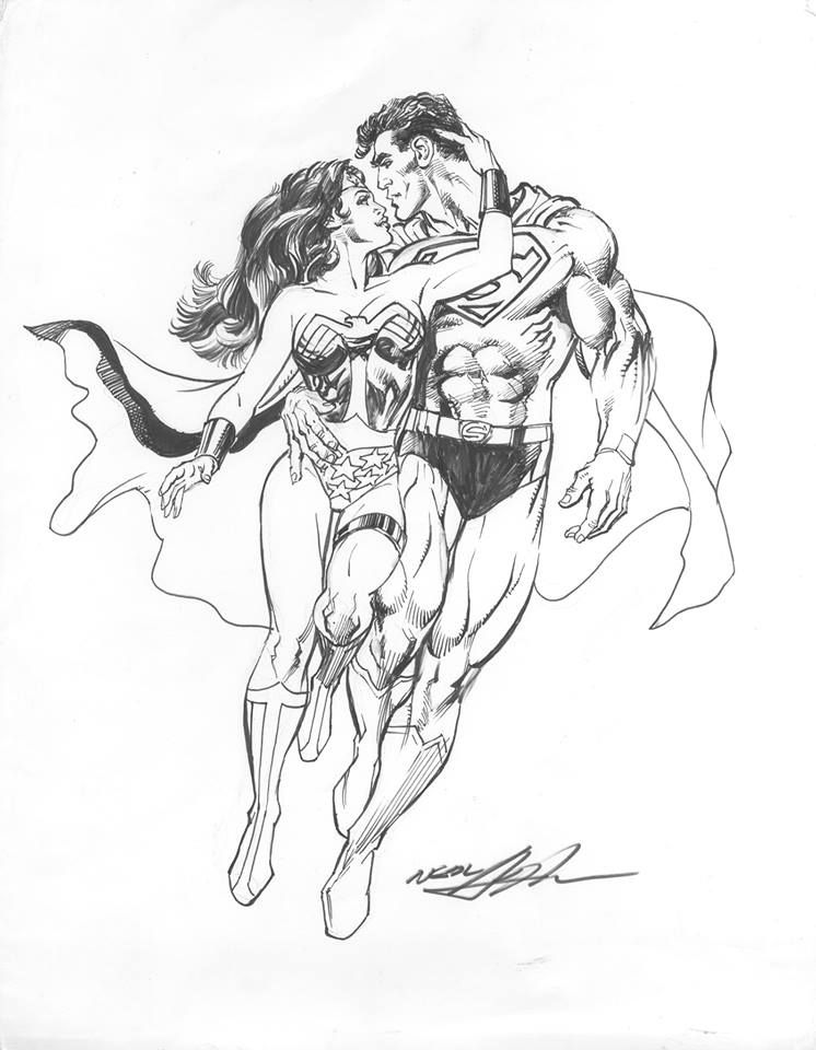 superman and by neal http comicart