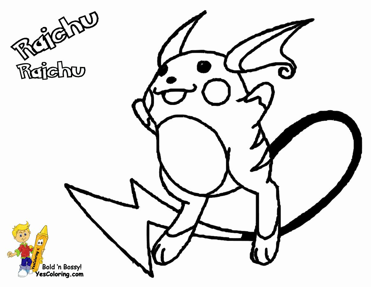 Alolan Raichu Coloring Page Awesome Raichu Pokeman Pocket Monsters At Coloring Pages Book For Pokemon Coloring Pages Coloring Pages Pikachu Coloring Page