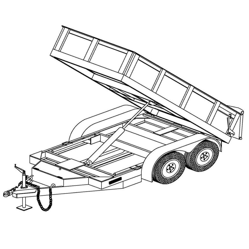 5 x10 hydraulic dump trailer plans model 10hd bodegas trailer 4-Wire Trailer Lights Wiring-Diagram 5 x10 hydraulic dump trailer plans model 10hd