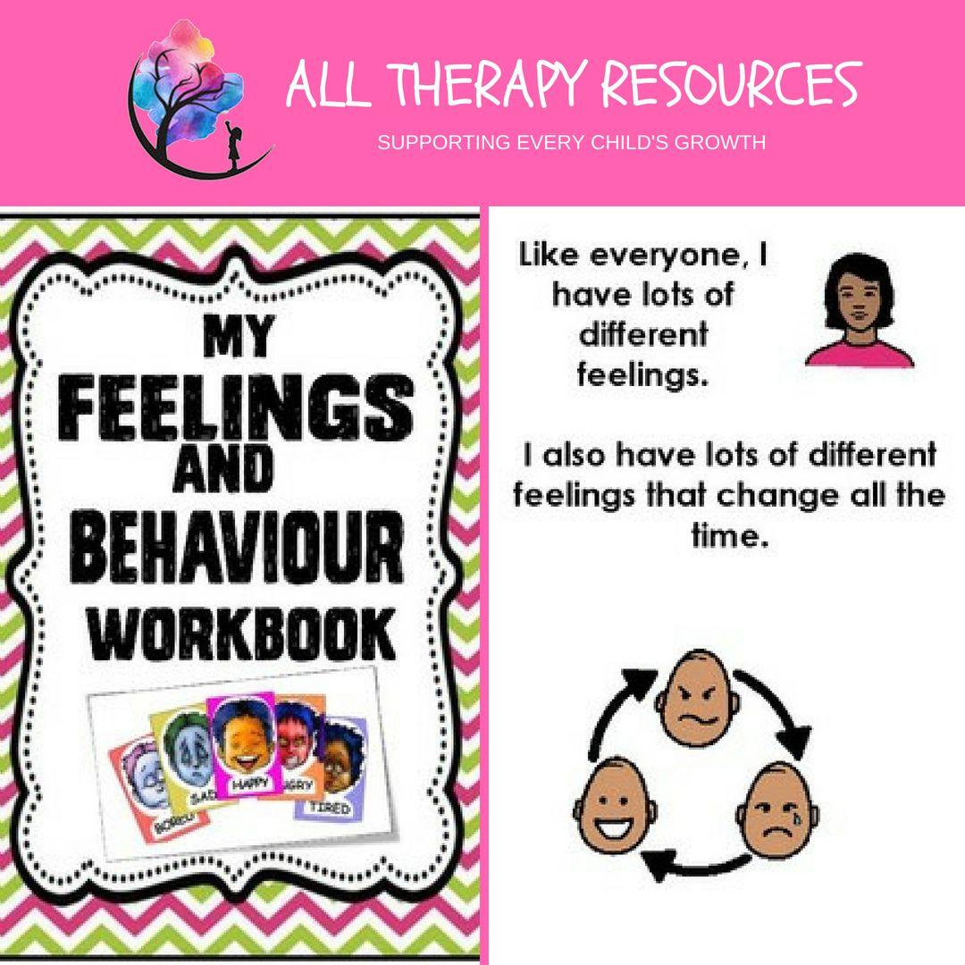 Behavior Support My Feelings And Behavior Workbook Lesson