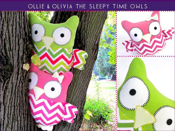 Sleepy Time Stuffed Owls free tutorial!