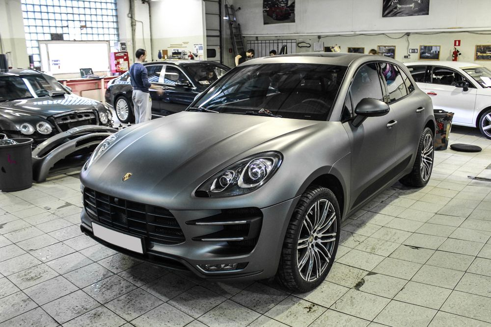 Porsche Macan Dark Grey Matte Makan V Tyomno Serom Mate Porsche