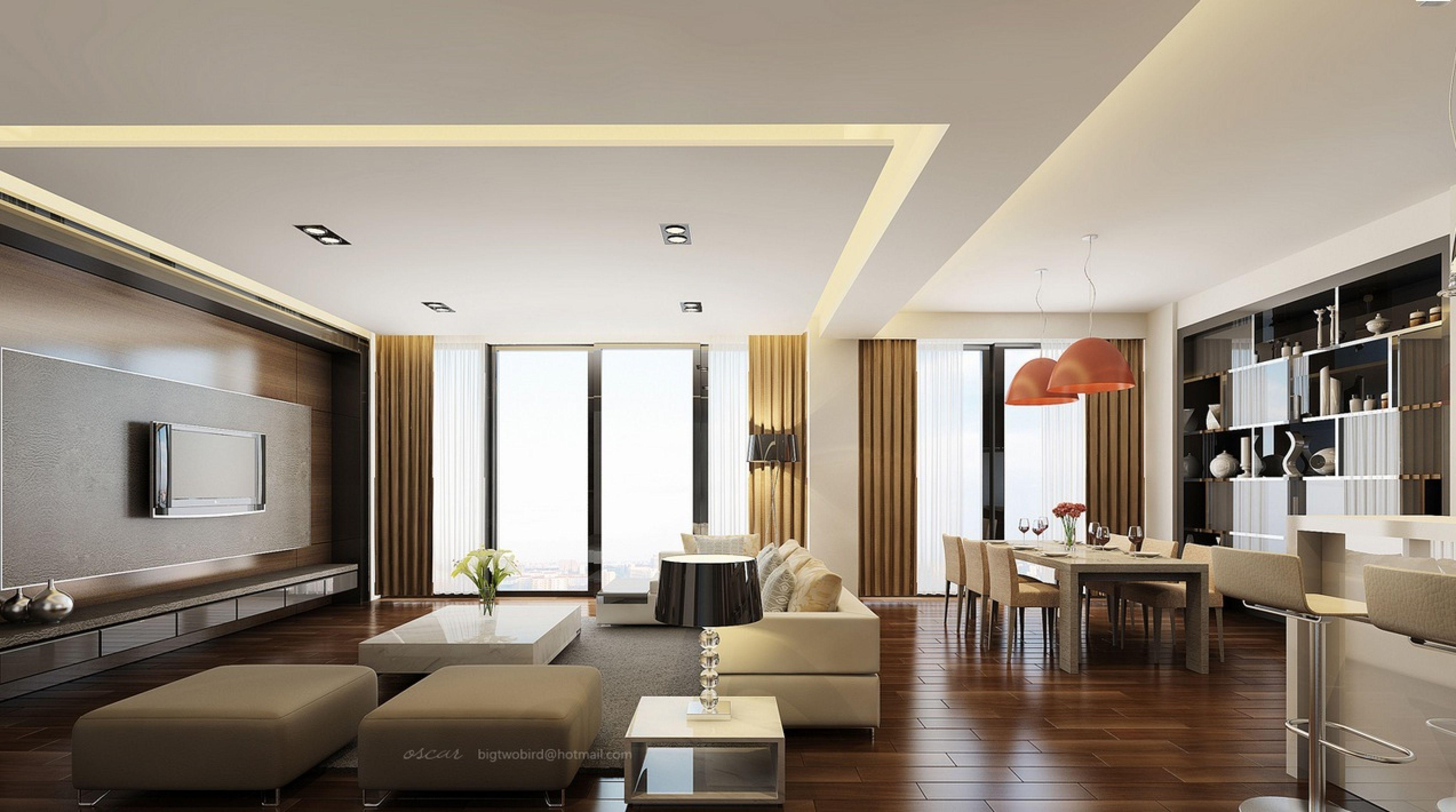 Interior Design L Shaped Living Dining Room Modern Design For