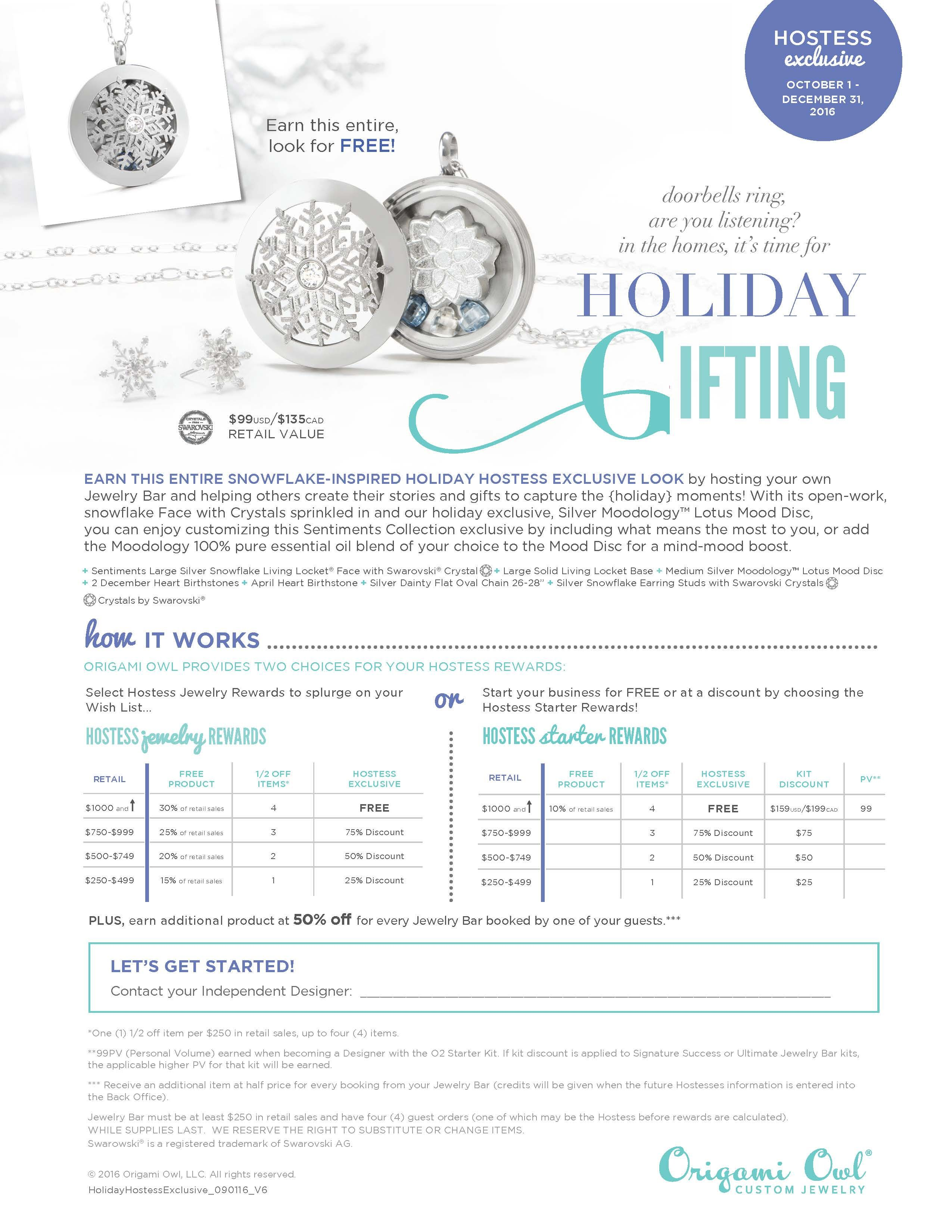 Origami Owl. Holiday 2016 Hostess rewards. Scedule your ... - photo#2