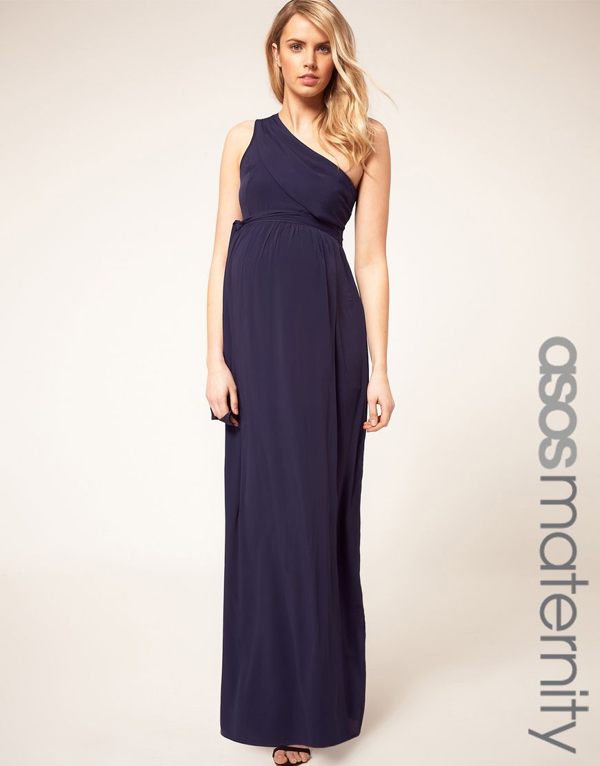 bc9c2372fb0cd Asos Maternity One Shoulder Maxi Dress | Style / Bump | Maternity ...