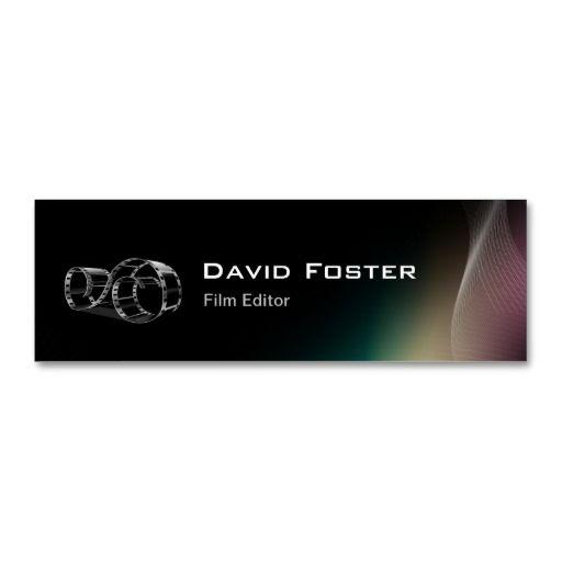 Video film editor cutter director mini business card editor video film editor cutter director business cards colourmoves
