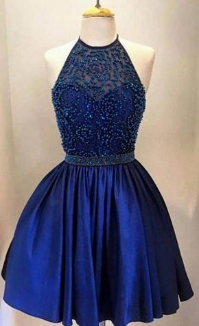 656b2a76873 Royal Blue Short Prom Dress