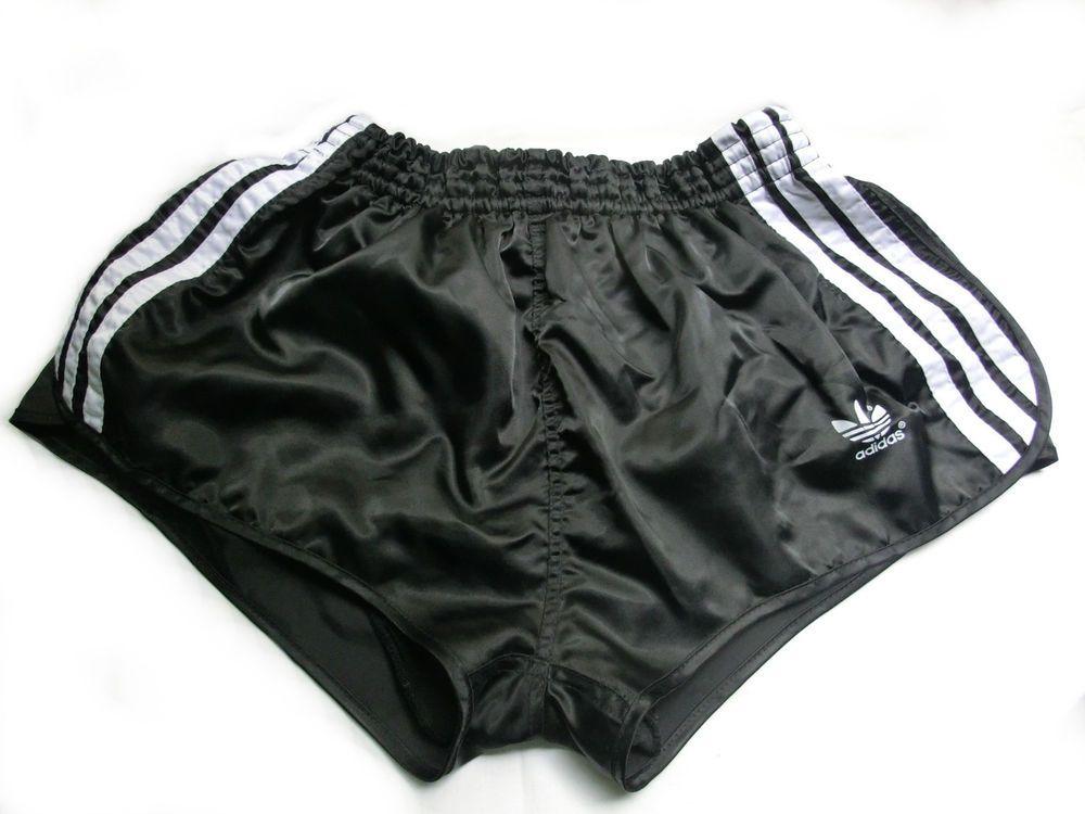 6e23eb0345743 Schwarze Original Adidas Sprinter Shorts Glanz Sporthose, Gr.6 [ 819 ...
