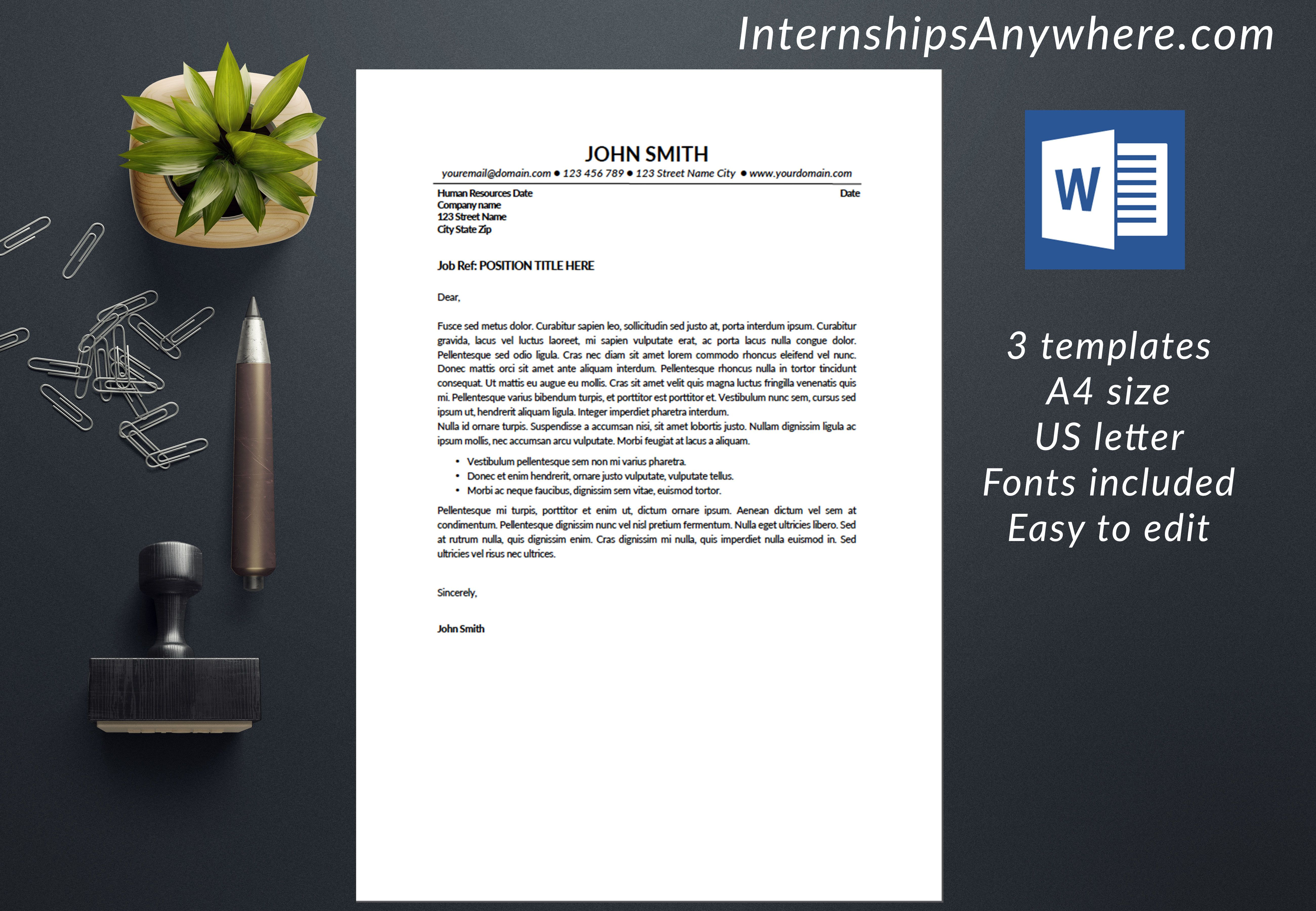Resume Template Instant Download / Cover Letter Template