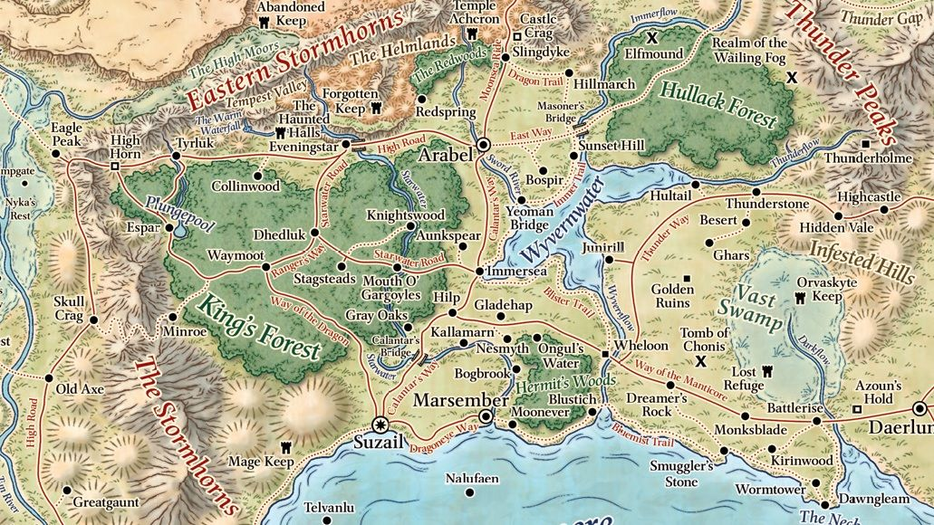 Forgotten Realms World Map 5e