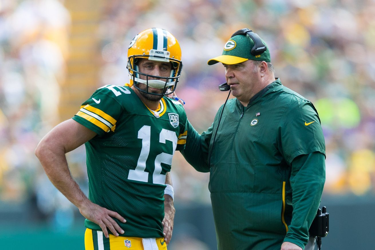 Mike Mccarthy And Aaron Rodgers Both Have To Change For Their Own Nfl Futures All Sports Games And Sports Hd Streaming Mike Mccarthy Aaron Rodgers Coach