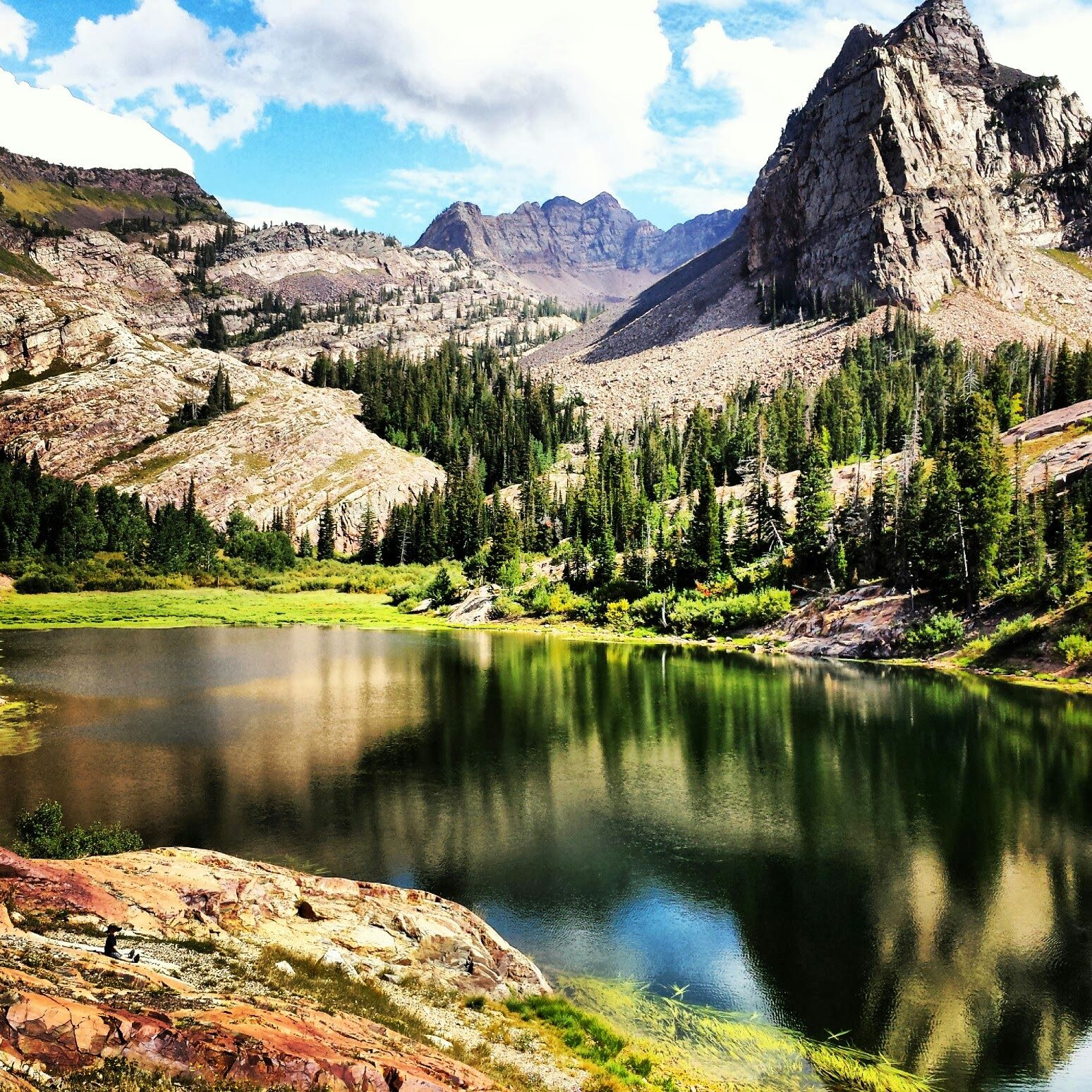 Beautiful Lake House Homes: Lake Blanche, UT. Hike Up From The Mill B Trail Head Up